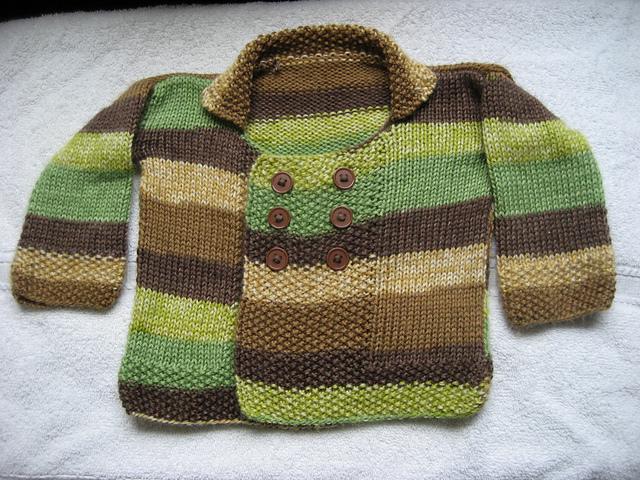 Moss Stitch Baby Jacket