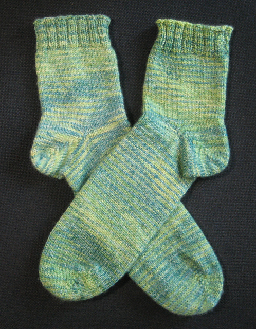 Green Sock Blank Socks Lying Flat