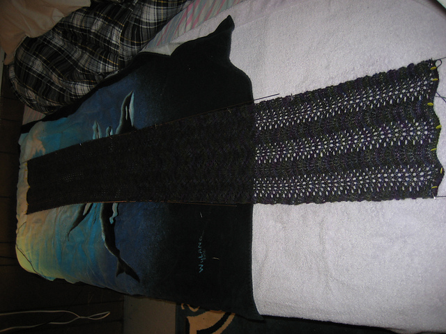 Wavy Scarf Blocking