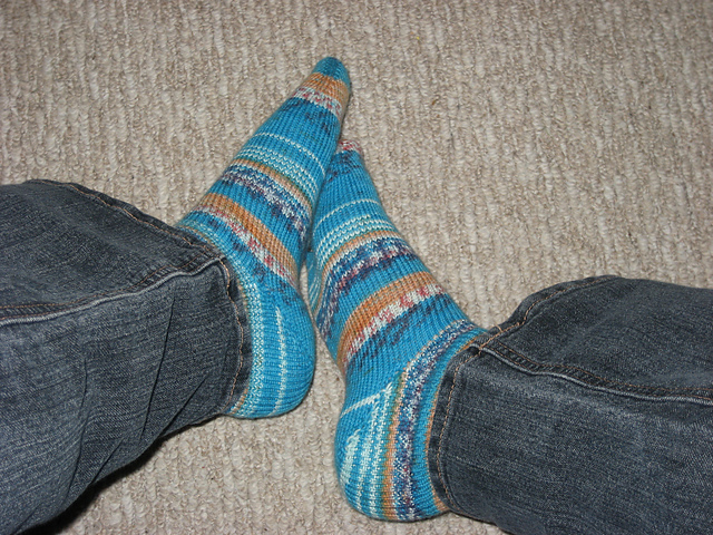 Blue Fabel Socks Modelled