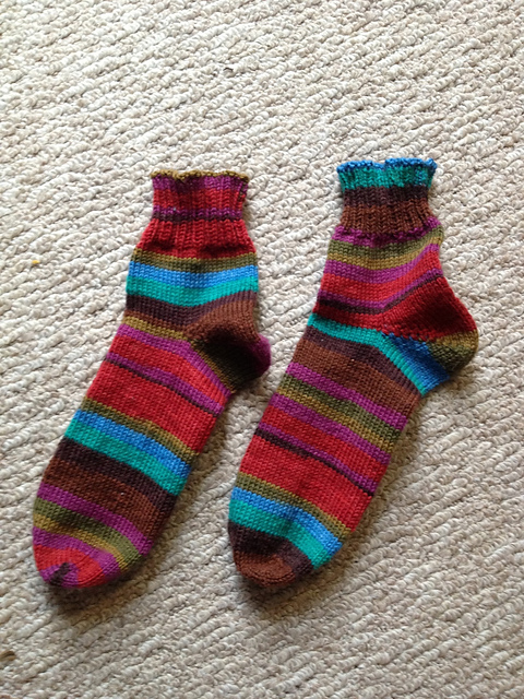 Kaffe Socks Laying Flat