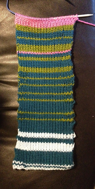 Temperature Scarf – March Progress
