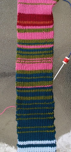 Full length of Temperature Scarf - so far