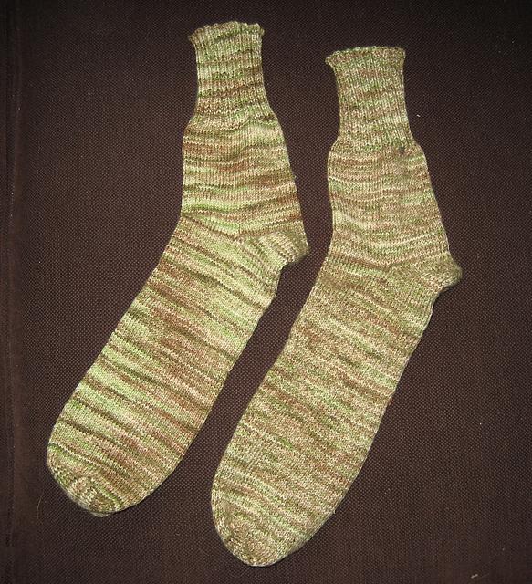 Mathew's Socks Laid Flat