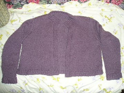 First Sweater - Laying Flat just after Completion