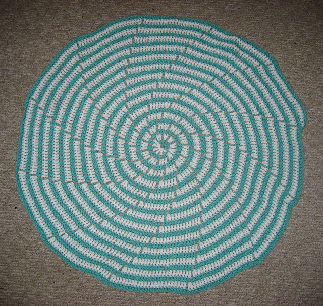 Spiral Baby Blanket Laying Flat