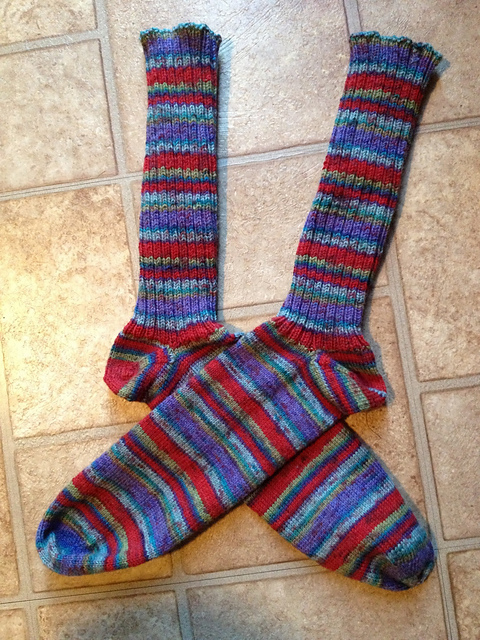 Mathew's 5th Socks Lying Flat